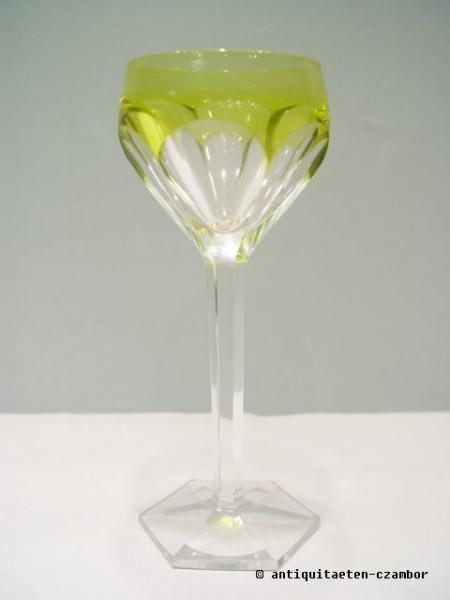 Wine glass, Moser, Art Deco