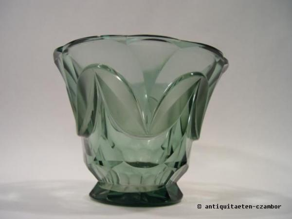 Vase, Moser, Art Deco, cut glass