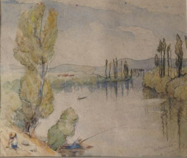 Arderne Clarence, La Garonne, water colour, ca. 1900