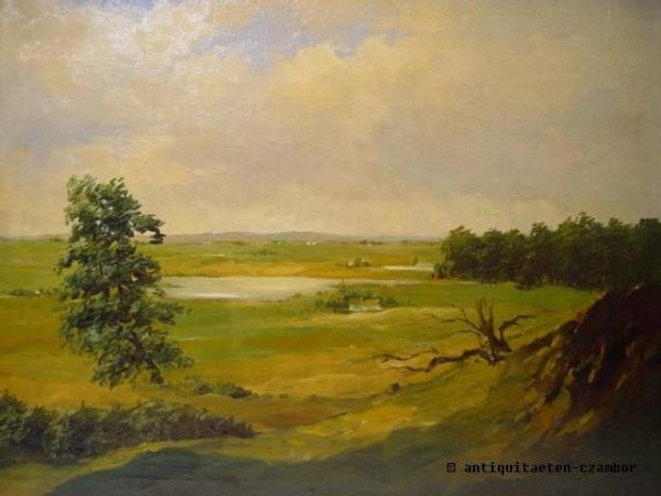 Landscape painted outdoor, 1920, oil on canvas,