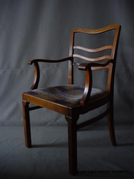 Armrest chair, Bruno Paul, Art Nouveau, walnut