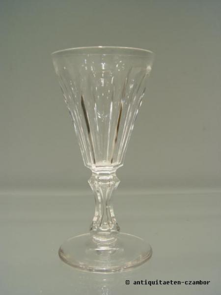 Wine glass, Moser, about 1860