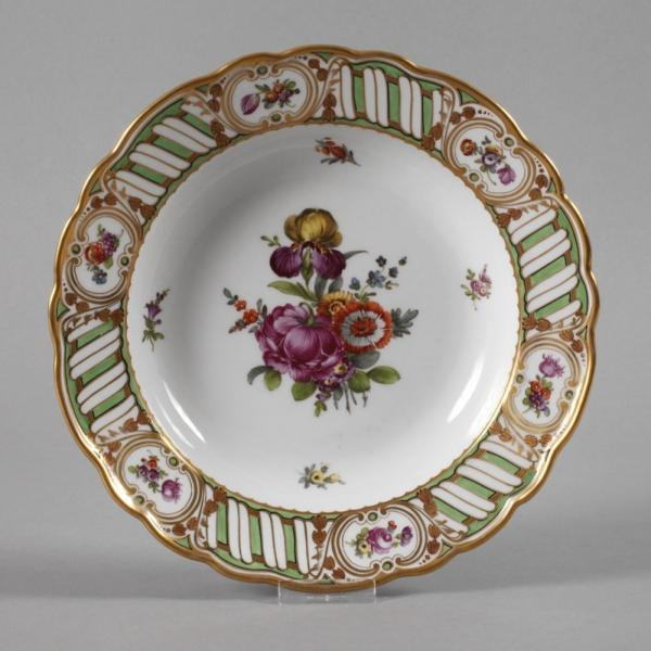 Plate with floral decor, probably Vienna