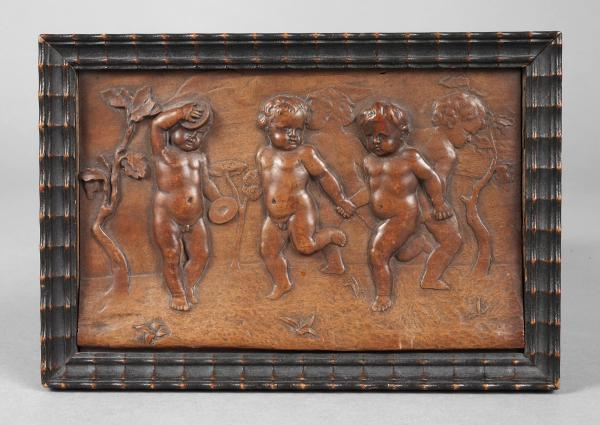 Relief, boxwood, 17th century, Former collection Dr. Albert Manz Basel