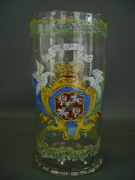 Beaker glass (Hofkellerei), Baroque, Saxony, first third of the 18th century