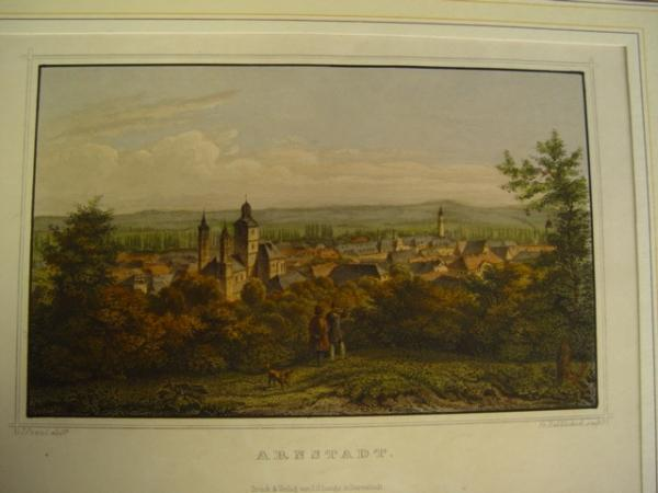 "Graphic artwork ""view of the city of Arnstadt"""